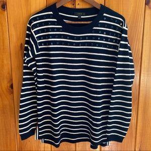 J.Crew jeweled striped sweater - Small
